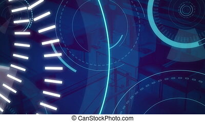Animation of 5G written on blue circles moving - Animation ...
