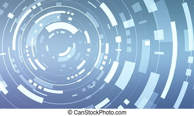 Animation of a abstract blue hud - An animation of a...