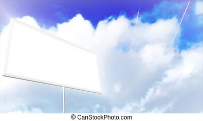 Animation of a Blank sign - 3d Animation of a Blank sign...