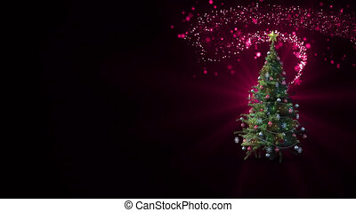 Christmas tree and a shooting star - Animation of a ...