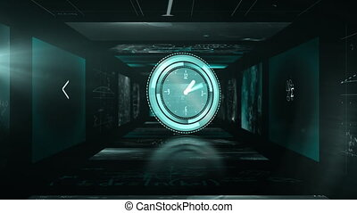 Animation of a click ticking and mathematical symbols on ...