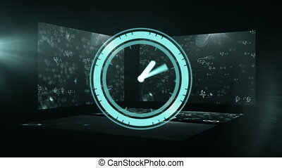 Animation of a clock ticking over mathematical equations ...
