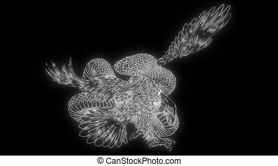 animation of a eagle and snake and that lights up - ...