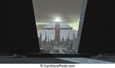 Animation of a futuristic city - A animation of a futuristic...
