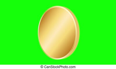 Animation of a gold coin
