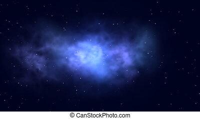 Animation of a nebula with stars