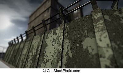 Animation of a prison - An animation of the exterior of a...