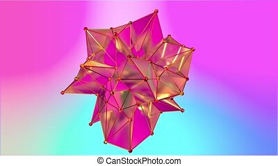 Animation of a shape metamorphosis of a polygonal semi...