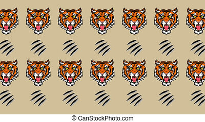 Animation of a tiger and sharp claws - animation