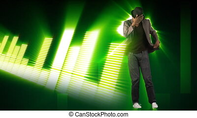Animation of a young man dancing