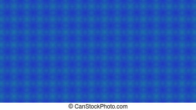 Animation of abstract shapes against blue background
