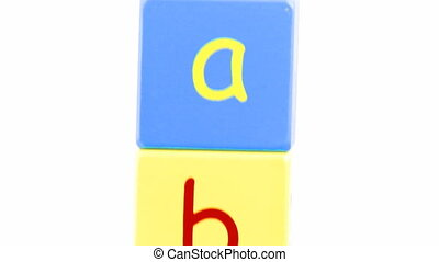 Animation  of alphabet letters