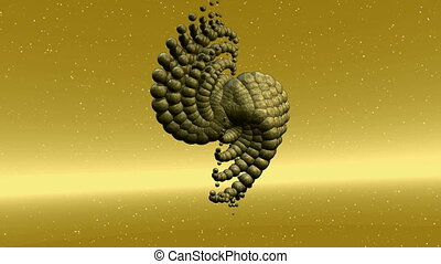 Animation of an alien Structure