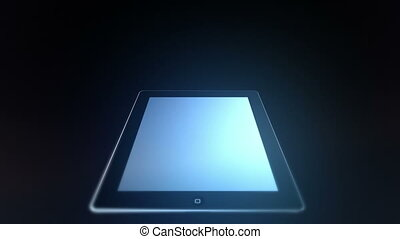 Animation of an tablet.