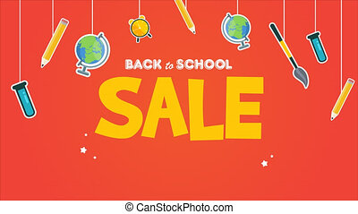 Animation of back to school sale