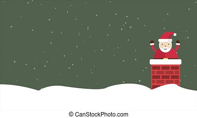 Animation of background Santa Clause. Christmas collection