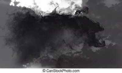 Animation of black and grey shadows on white background