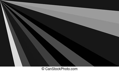 Animation of black and white diagonal lines with light effect blinking, abstract background