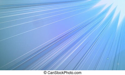 Animation of blue lines moving fast