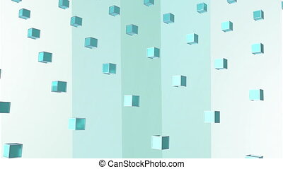 Animation of blue squares in blue background