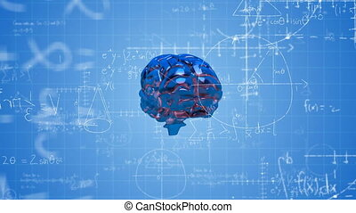 Animation of brain with technology and data processing - ...