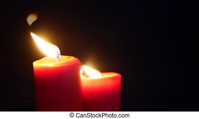 Animation of candle burning. Chirstmas collection