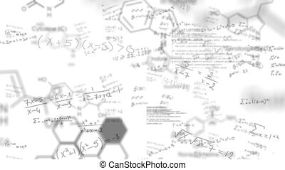 Animation of chemical elements over mathematical equations ...