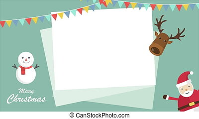 Animation of Christmas with deer landscape