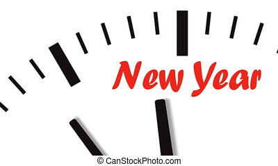 Animation of clock countdown to New Year