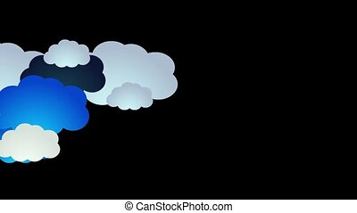Animation of clouds with Alpha background