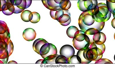 Animation of color balls or bubble