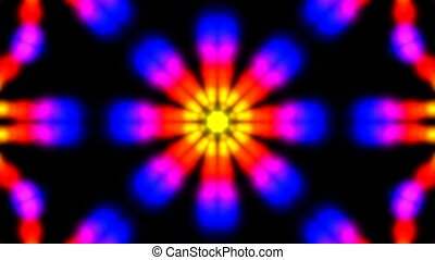 Animation of color flower pattern