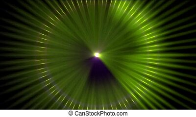 Animation of color pulse ray, disco light, seamless loop