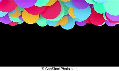 Animation of colored balls on a black background