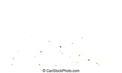 Animation of colorful confetti falling
