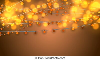 """Animation of Dazzling Yellow Christmas Lights"""