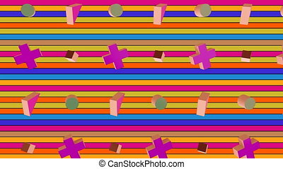 Animation of different shapes with colored background