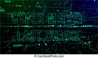 Animation of digital space with 'Cyber Monday Last Chance' ...
