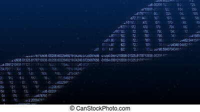 Animation of DNA structure against blue background - ...