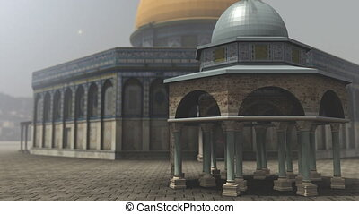 Animation of Dome of the Rock exterior in Jerusalem -...