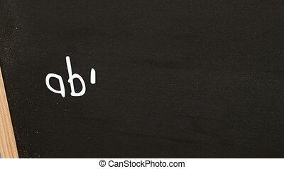 Animation of education flowchart on chalkboard