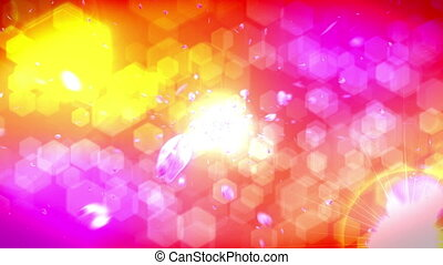 Animation of falling petals of cherry blossoms, Abstract background