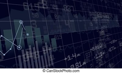 Animation of financial bars and num