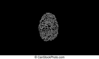 Animation of Fingerprint Black Alpha Matte Touch ID ...