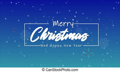 Animation of fireworks for merry Christmas and happy new year