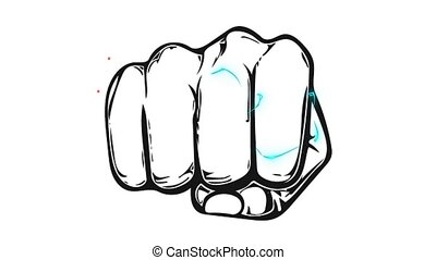 animation of fist pulled in front