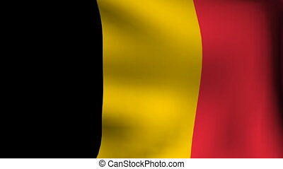 animation of flag of belgium background