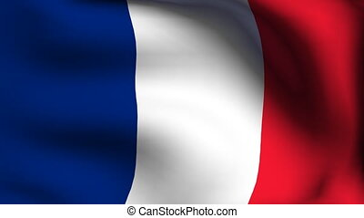 animation of flag of france