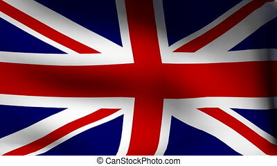 animation of flag of great britain as background