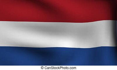 flag of netherland background